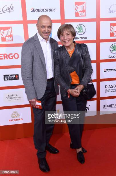 Christian Neureuther and Rosi Mittermaier attend the Sport Bild Award at the Fischauktionshalle on August 21 2017 in Hamburg Germany