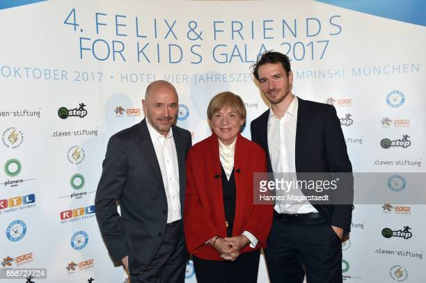 Christian Neureuther Rosi Mittermaier and Felix Neureuther during the Felix Friends Charity Gala at Hotel Vier Jahreszeiten on October 7 2017 in...