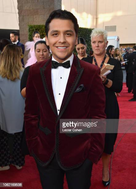 Christian Nodal attends the 19th annual Latin GRAMMY Awards at MGM Grand Garden Arena on November 15 2018 in Las Vegas Nevada