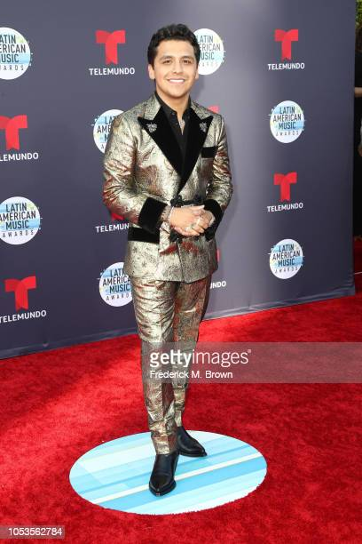 Christian Nodal attends the 2018 Latin American Music Awards at Dolby Theatre on October 25 2018 in Hollywood California