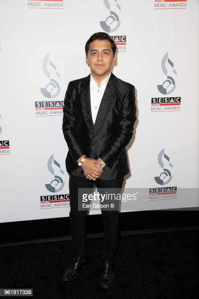Christian Nodal attends the 2018 SESAC Latina Music Awards at The Beverly Hills Hotel on May 23 2018 in Beverly Hills California