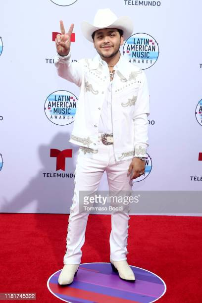 Christian Nodal attends the 2019 Latin American Music Awards at Dolby Theatre on October 17 2019 in Hollywood California