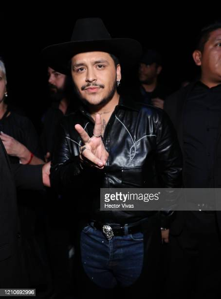 Christian Nodal attends the 2020 Spotify Awards at the Auditorio Nacional on March 05 2020 in Mexico City Mexico