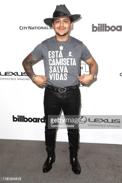 Christian Nodal attends the Billboard Latin AMA Fest at NeueHouse Los Angeles on October 15 2019 in Hollywood California