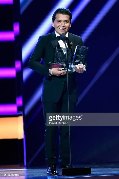 Christian Nodal onstage at the 2018 Billboard Latin Music Awards at the Mandalay Bay Events Center on April 26 2018 in Las Vegas Nevada