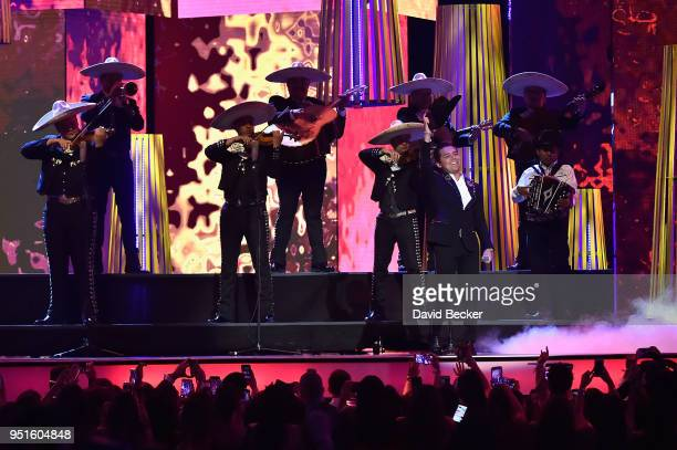 Christian Nodal performs onstage at the 2018 Billboard Latin Music Awards at the Mandalay Bay Events Center on April 26 2018 in Las Vegas Nevada