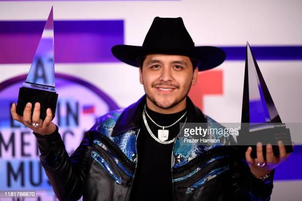 Christian Nodal winner of Favorite Regional Mexican Artist and Favorite Regional Mexican Song attends the 2019 Latin American Music Awards at the...