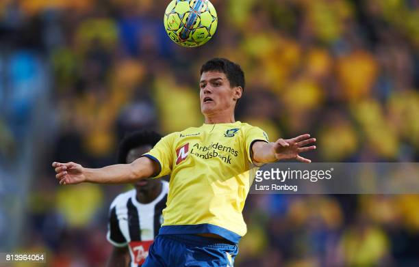 Christian Norgaard of Brondby IF controls the ball during the UEFA Europa League Qualification match between Brondby IF and VPS Vaasa at Brondby...