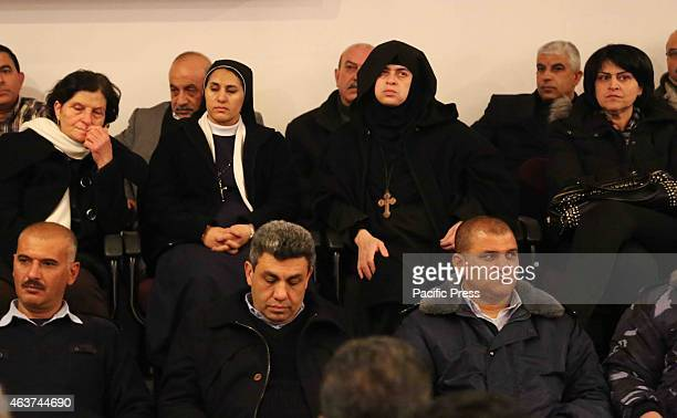 Christian nuns attend a vigil in the West Bank city of Bethlehem for the 21 slain Egyptian Coptic Christians Following another video released by ISIS...