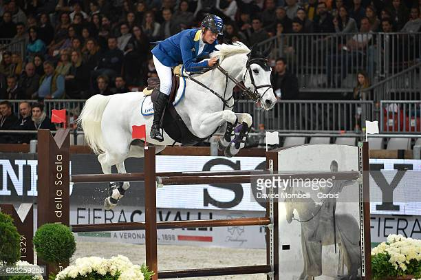 Christian of Germany rides Aragon Z during the FEI Longines CSI5* World Cup Small Tour By BMW Jumping Verona 2016 on November 10 2016 in Verona Italy