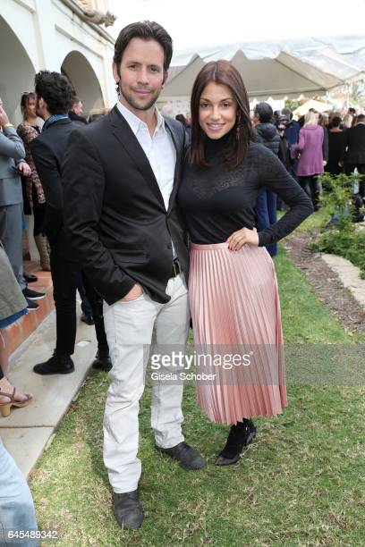 Christian Oliver and Anna Julia Kapfelsperger during the German Oscar nominees reception at The Villa Aurora on February 25 2017 in Pacific Palisades...