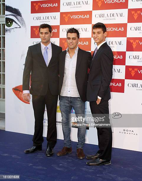 Christian Ostarcevic and Yelco Ostarcevic attend the painting exhibition of Carla Duval at Casa de Vacas on September 5 2012 in Madrid Spain