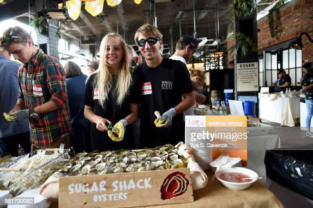 Christian Palmisano serves Sugar Shack Oysters during Oyster Bash presented by Barnegat Oyster Collective sponsored by Modelo hosted by Adam Richman...