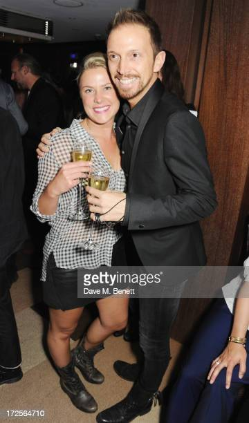 Christian Panayiotou and wife attend Christian Furr and Chris Bracey 'Staying Alive' Private View at 45 Park Lane on July 3 2013 in London England