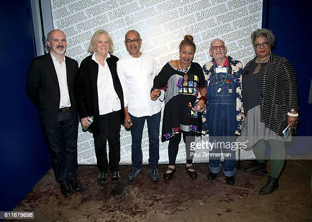 Christian Parker Anne Bogart George C Wolfe Ntozake Shange Larry Kramer and Joi Gresham attend the 2016 #IdentityWeek Reception at Vineyard Theatre...