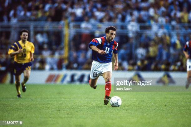 Christian Perez of France during the European Championship match between Sweden and France at Rasunda Stadium, Solna, Sweden on 10 June 1992