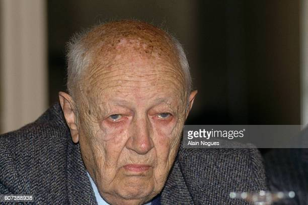 Christian Pineau is one of the supporters of French Resistance leader Raymond Aubrac during his 1991 trial after being accused of betraying Jean...