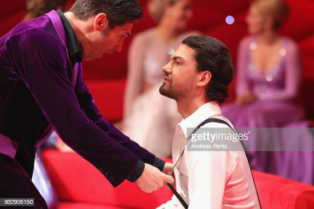 Christian Polanc and Jimi Blue Ochsenknecht are seen during the 1st show of the 11th season of the television competition 'Let's Dance' on March 16...