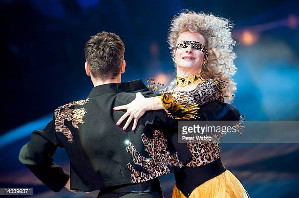 Christian Polanc and Joana Zimmer perform during 'Let's Dance' 7th Show at Coloneum on April 25 2012 in Cologne Germany
