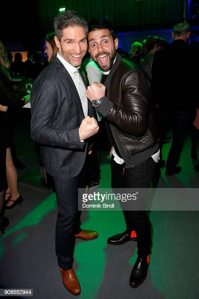 Christian Polanc and Serhat Yilmaz attend the 'Fack ju Goehte Se Mjusicael' Musical Premiere at Werk 7 Theater on January 21 2018 in Munich Germany