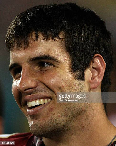 Christian Ponder of the Florida State Seminoles celebrates after winning the Champs Bowl against the Wisconsin Badgers on December 27 2008 at the...