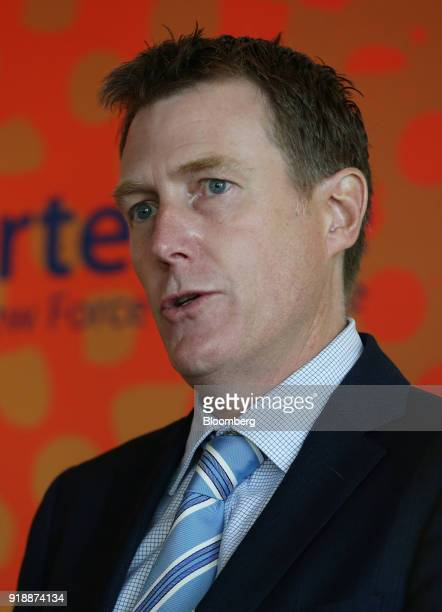 Christian Porter Australia's attorney general speaks during a news conference by Fortescue Metals Group Ltd in Perth Australia on Friday Feb 16 2018...