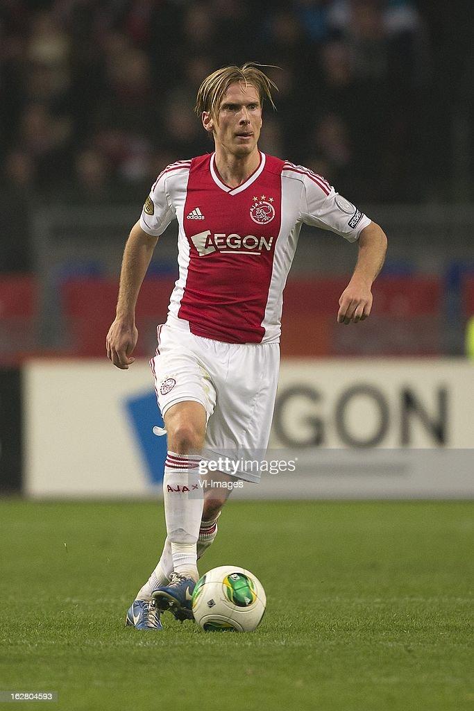 Christian Poulsen of Ajax during the Dutch Cup match between Ajax Amsterdam and AZ Alkmaar at the Amsterdam Arena on february 27, 2013 in Amsterdam, The Netherlands