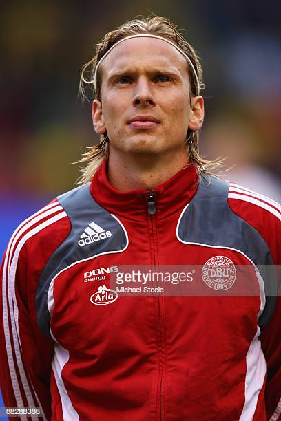 Christian Poulsen of Denmark during the FIFA2010 World Cup Qualifying Group 1 match between Sweden and Denmark at the Rasunda Stadium on June 6 2009...