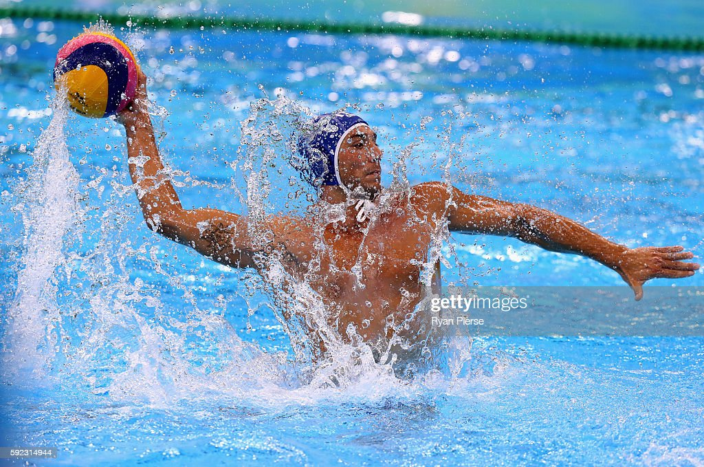 Christian Presciutti of Italy shoots during the Men's Water Polo Bronze Medal match between the Montenegro and Italy on Day 14 of the Rio 2016 Olympic Games at the Olympic Aquatics Stadium on August 20, 2016 in Rio de Janeiro, Brazil.