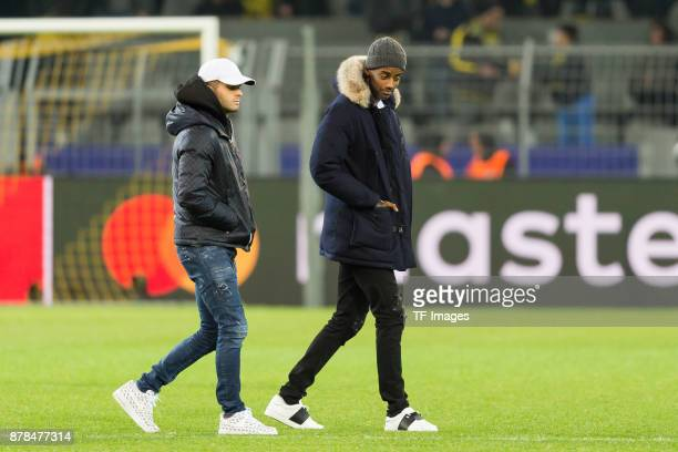 Christian Pulisic of Borussia Dortmund and Alexander Isak of Borussia Dortmund are walking after the UEFA Champions League group H match between...