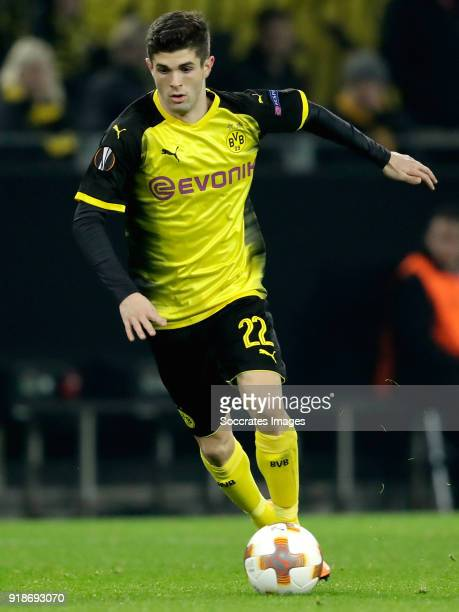 Christian Pulisic of Borussia Dortmund during the UEFA Europa League match between Borussia Dortmund v Atalanta Bergamo at the Signal Iduna Park on...