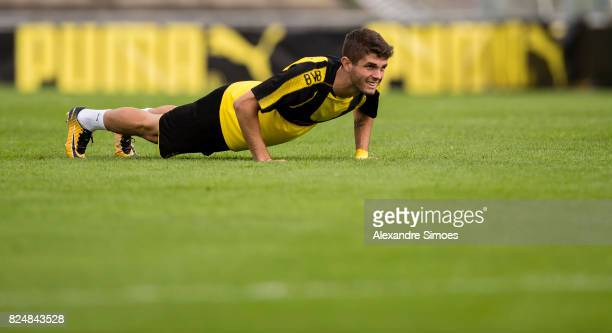 Christian Pulisic of Borussia Dortmund in action during a training session as part of the training camp on July 31 2017 in Bad Ragaz Switzerland