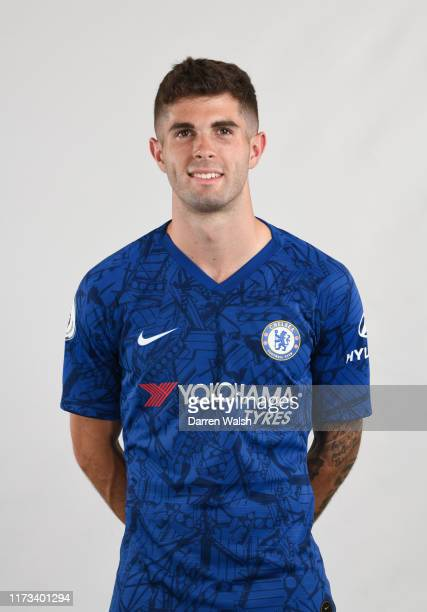 Christian Pulisic of Chelsea during the media open day at Chelsea Training Ground on July 29 2019 in Cobham England