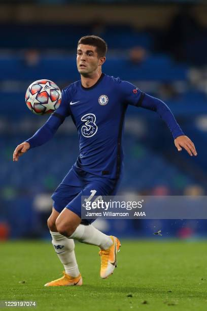 Christian Pulisic of Chelsea during the UEFA Champions League Group E stage match between Chelsea FC and FC Sevilla at Stamford Bridge on October 20...