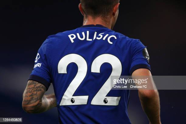 Christian Pulisic of Chelsea in action during the Premier League match between Chelsea FC and Watford FC at Stamford Bridge on July 04 2020 in London...