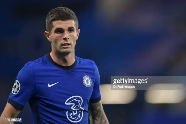 Christian Pulisic of Chelsea looks on during the UEFA Champions League Group E stage match between Chelsea FC and FC Sevilla at Stamford Bridge on...