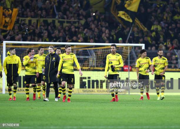 Christian Pulisic of Dortmund Mario Goetze of Dortmund Sokratis Papastathopoulos of Dortmund Andre Schuerrle of Dortmund Nuri Sahin of Dortmund...