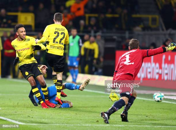Christian Pulisic of Dortmund scores the team`s second goal during the Bundesliga match between Borussia Dortmund and TSG 1899 Hoffenheim at Signal...