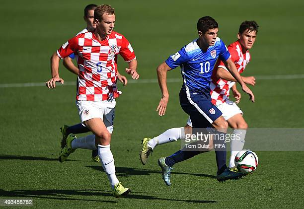 Christian Pulisic of USA in action during the FIFA U17 Men's World Cup 2015 group A match between USA and Croatia at Estadio Sausalito on October 20...