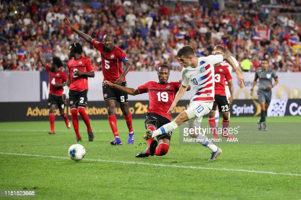 Christian Pulisic of USA scores a goal to make it 40 during the Group D 2019 CONCACAF Gold Cup fixture between United States of America and Trinidad...