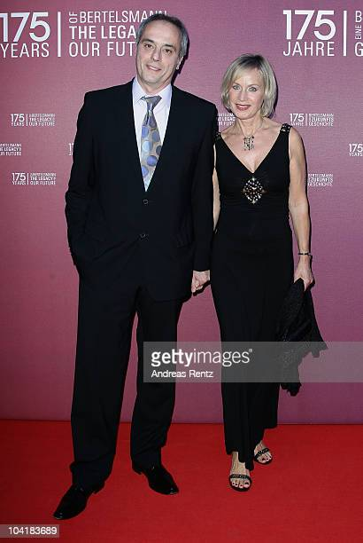 Christian Rach and his wife Andrea Rach arrive for the Bertelsmann 175 years celebration ceremonial act at the Konzerthaus am Gendarmenmarkt on...