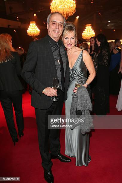 Christian Rach and his wife Andrea Rach during the Goldene Kamera 2016 reception on February 6 2016 in Hamburg Germany