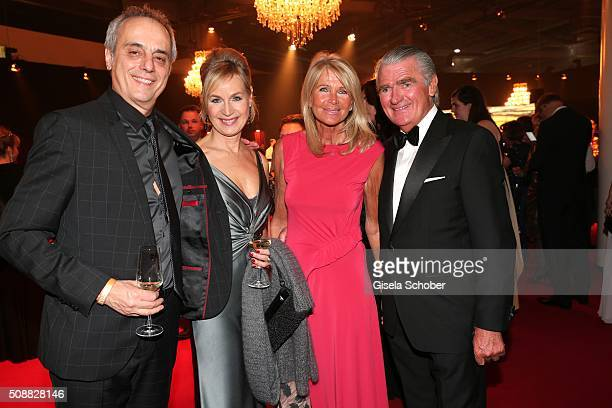 Christian Rach and his wife Andrea Rach Ruediger Kowalke and his wife Susanne Kowalke during the Goldene Kamera 2016 reception on February 6 2016 in...