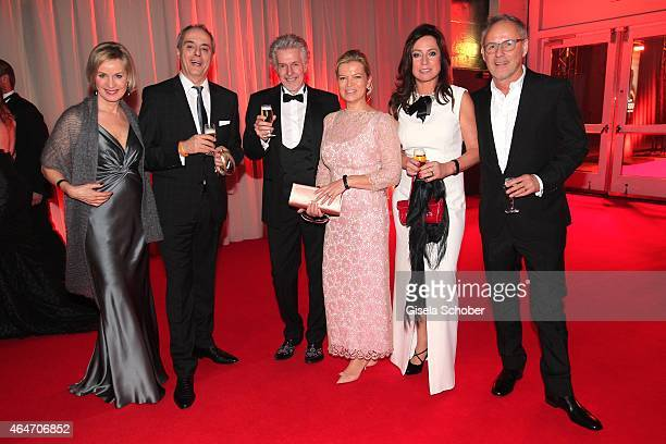 Christian Rach and his wife, Frank Schaetzing and his wife Sabina Valkieser-Schaetzing, Reinhold Beckmann and his wife Kerstin Beckmann during the...