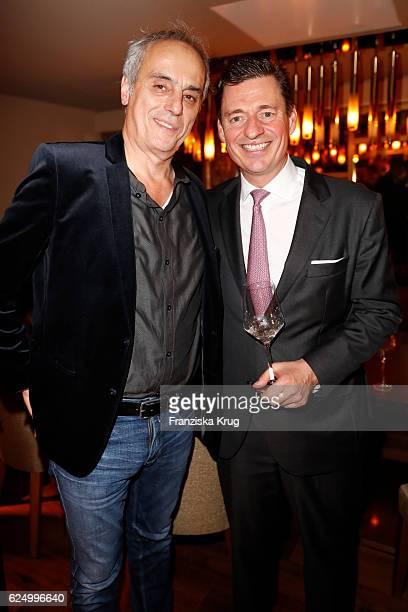 Christian Rach and Ingo C Peters attend the Nikkei Nine restaurant opening at The Fairmont Hotel Vier Jahreszeiten on November 21 2016 in Hamburg...