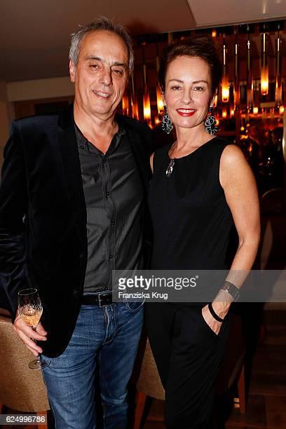 Christian Rach and Sabrina Staubitz attend the Nikkei Nine restaurant opening at The Fairmont Hotel Vier Jahreszeiten on November 21 2016 in Hamburg...