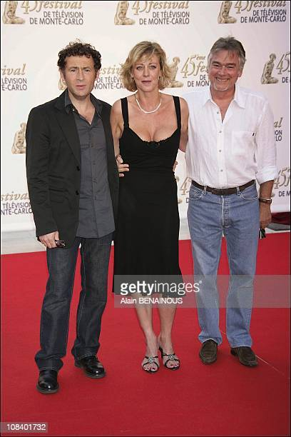 Christian Rau Cecile Auclert and Daniel Rialet of the series 'Pere and Maire' in Monaco on June 30 2005