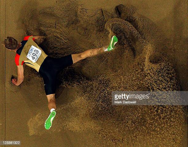 Christian Reif of Germany competes during the men's long jump final during day seven of 13th IAAF World Athletics Championships at Daegu Stadium on...