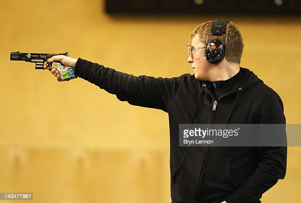 Christian Reitz of Germany finished 4th in the Men's 25m Rapid Fire Pistol comeptition on day nine of the ISSF Shooting World Cup LOCOG Test Event...