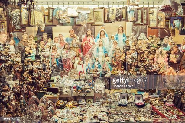 christian religious icons - madonna del rosario foto e immagini stock